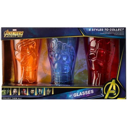 Conjunto 3 copos Marvel Avengers 495ml (Hulk, Groot, Thor)