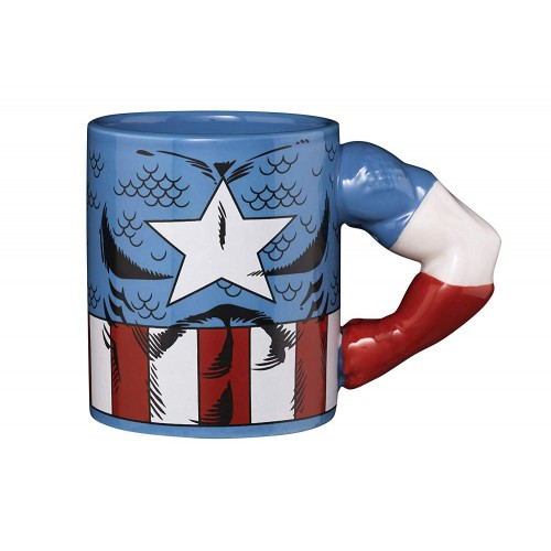 Caneca Meta Merch Marvel Captain America 350ml