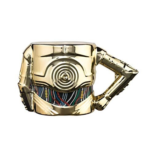 Caneca Meta Merch 3D Star Wars C3PO 400ml