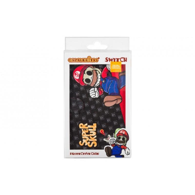 """Capa Indeca Calaveritas """"Super Mario"""" Nintendo Switch"""