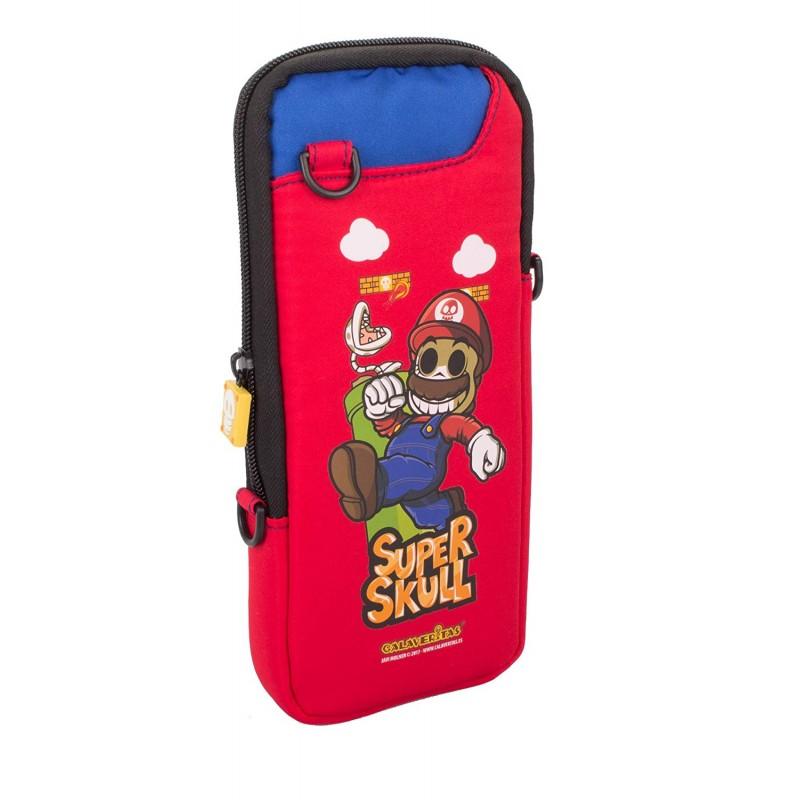 "Bolsa Slim Indeca Calaveritas ""Super Mario"" Nintendo Switch"
