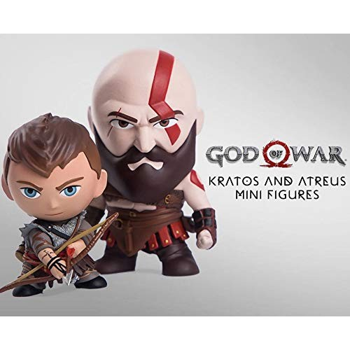 Mini Figuras God of War Kratos & Atreus (9 e 7 cm)