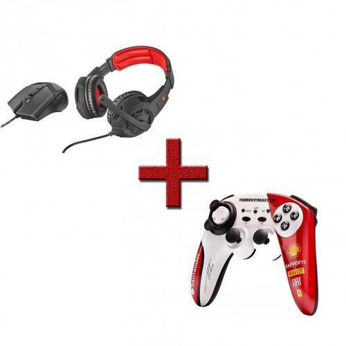 Headset & Mouse Trust + Comando Thrustmaster