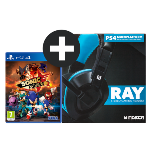 Headset Indeca + Sonic Forces PS4