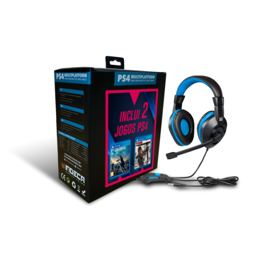 Headset Indeca + Final Fantasy XV + Tomb Rader Definitive Edition PS4