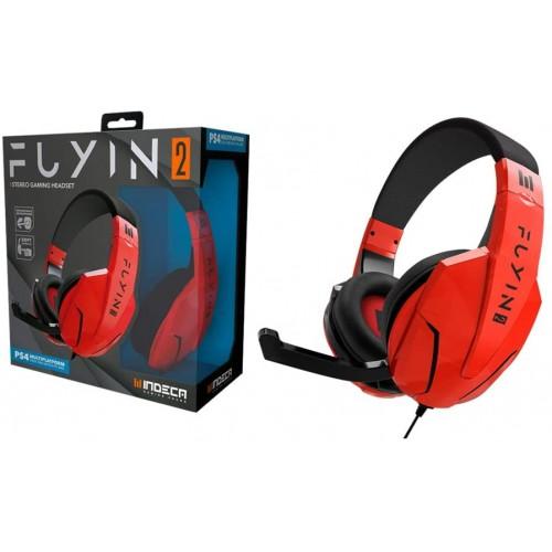 Headset Indeca Fuyin 2.0 Vermelho Multiplataforma