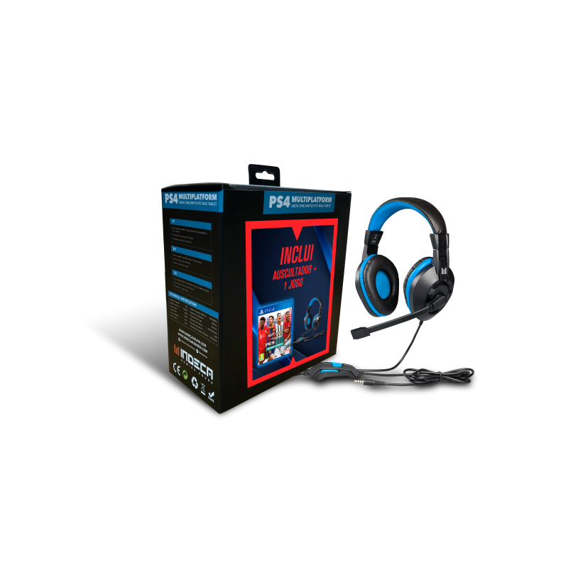 Headset Indeca + Efootball 2021 PS4