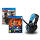 Headset Indeca + Sonic Force + Tomb Raider Defitive Ed. PS4