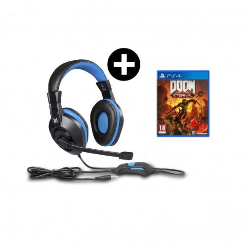 Headset Indeca + Doom Eternal PS4