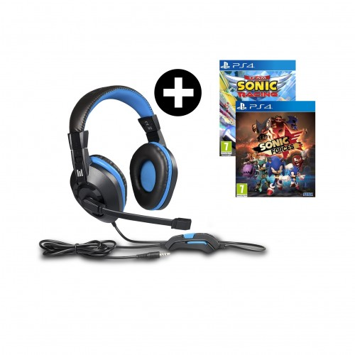 Headset Indeca + Team Sonic Racing + Sonic Forces PS4