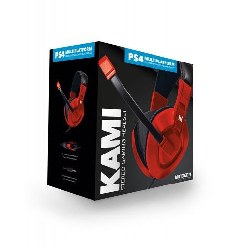 Headset Indeca Kami Vermelho Multiplataforma