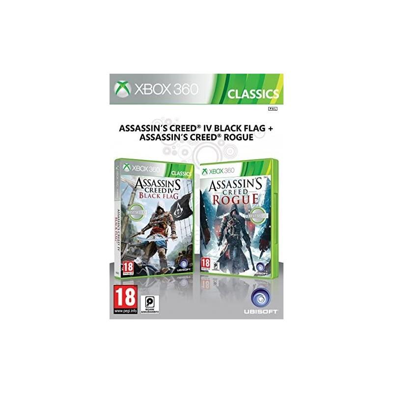 Assassin's Creed IV Black Flag + Assassin's Creed Rogue Xbox 360