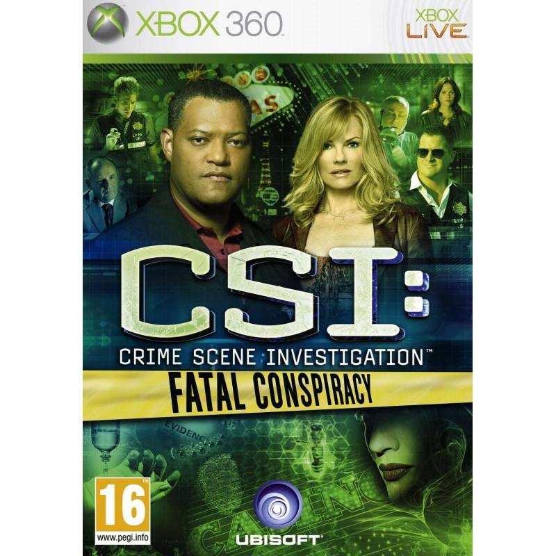 CSI Crime Scene Investigation Fatal Conspiracy Xbox 360