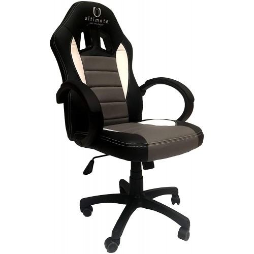 Cadeira Ultimate Gaming Taurus Preto, Cinzento e Branco