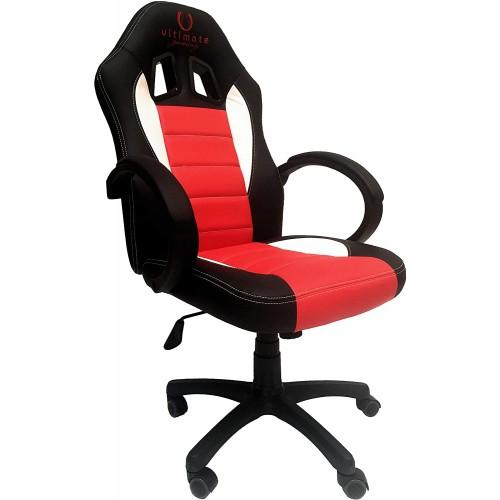 Cadeira Ultimate Gaming Taurus Preto, Vermelho e Branco