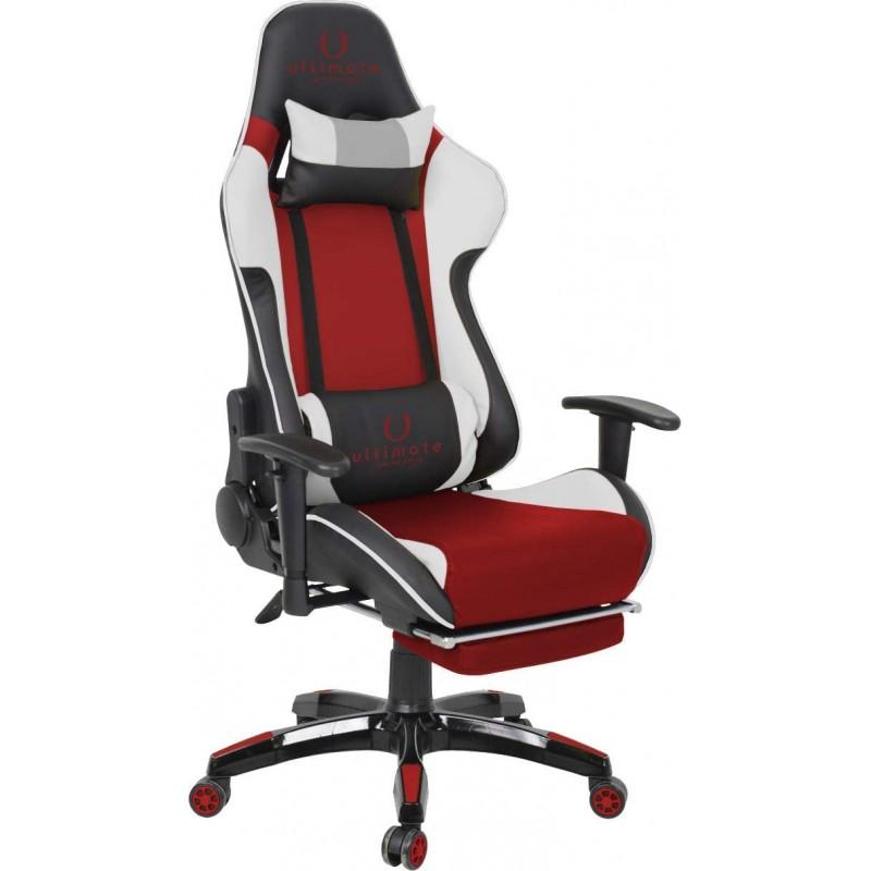 Cadeira Ultimate Gaming Orion Branco, Preto e Vermelho