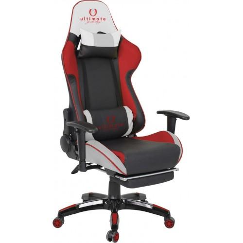 Cadeira Ultimate Gaming Orion Preto, Vermelho e Branco