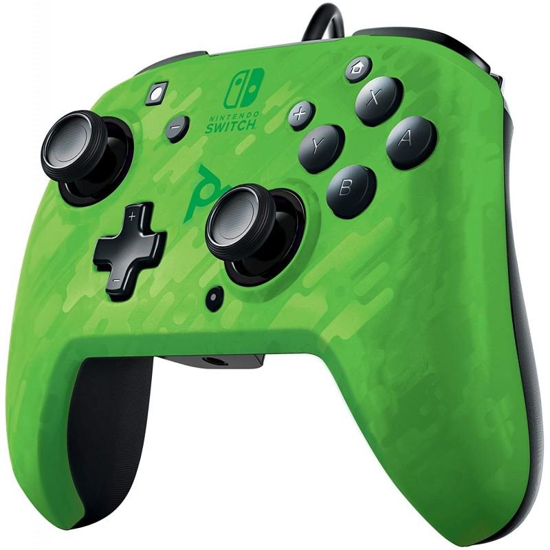 Comando PDP Faceoff DeluxeCamo Verde Nintendo Switch (com fios)