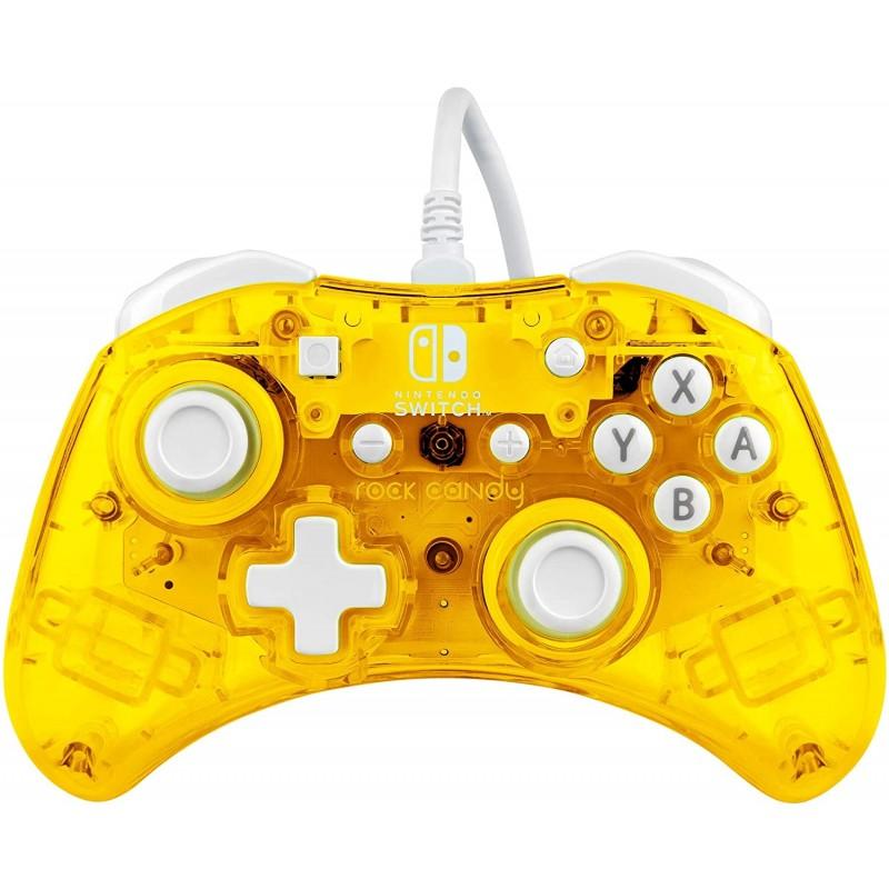 Comando PDP Rock Candy Amarelo Nintendo Switch (com fios)
