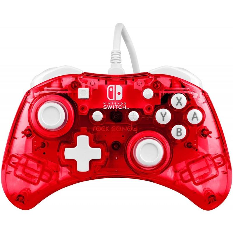 Comando PDP Rock Candy Vermelho Nintendo Switch (com fios)