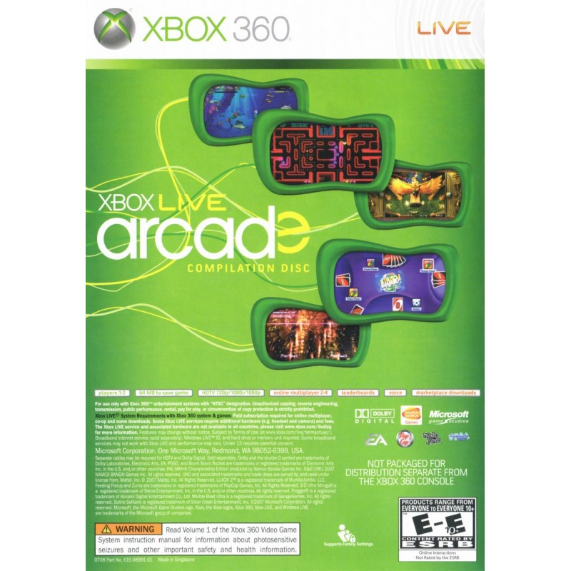 Xbox Live Arcade USADO Xbox 360