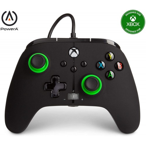 Comando PowerA Hint of Color Green Xbox One, Xbox Serie X & PC