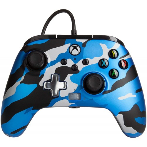 Comando PowerA Metallic Camo Blue Xbox One, Xbox Serie X & PC