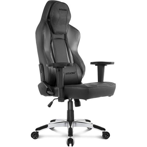 Cadeira Akracing Office Obsidian Preto/Carbono
