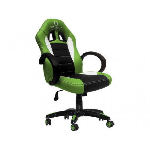 Cadeira Ultimate Gaming Taurus Verde, Preto e Branco