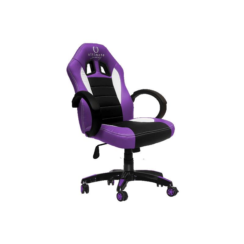 Cadeira Ultimate Gaming Taurus Roxo, Preto e Branco