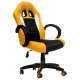 Cadeira Ultimate Gaming Taurus Amarelo, Preto e Branco