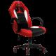 Cadeira Ultimate Gaming Taurus Vermelho, Preto e Branco