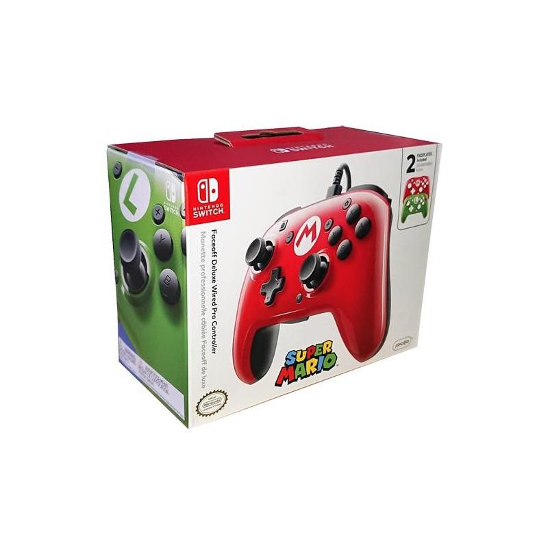 Comando Pro com Fios Faceoff Deluxe Super Mario