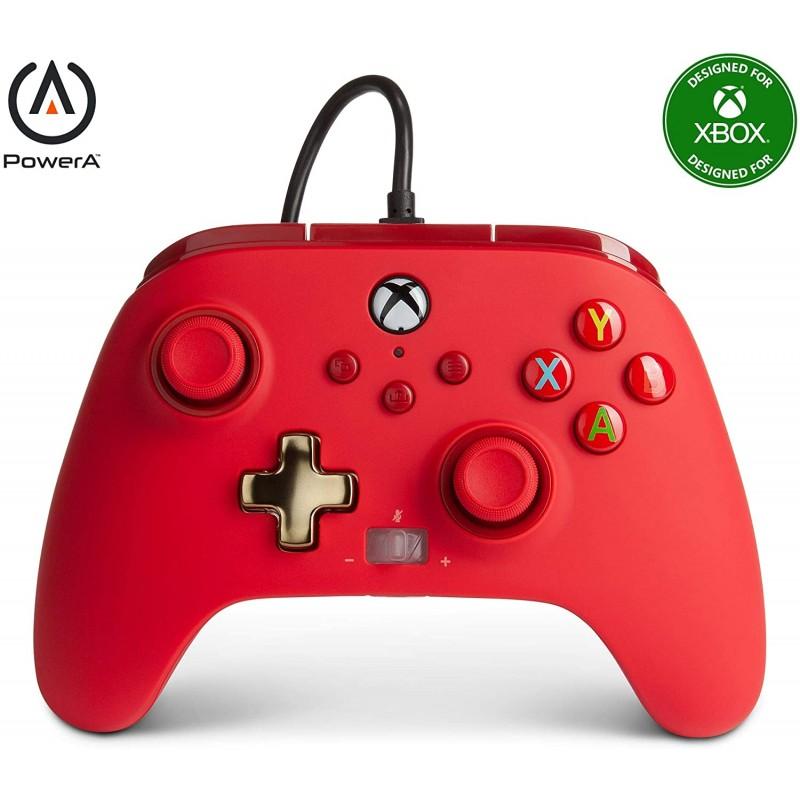 Comando PowerA Bold Colors Red Xbox One, Xbox Serie X & PC