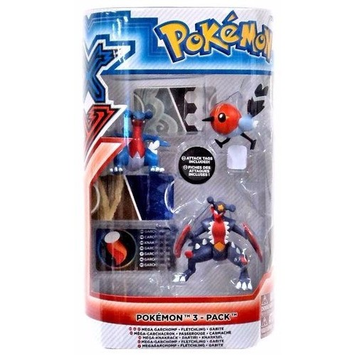 Figura Pokemon Tomy Evolucion Pack (Garchomp, Fletchling e Gabite)