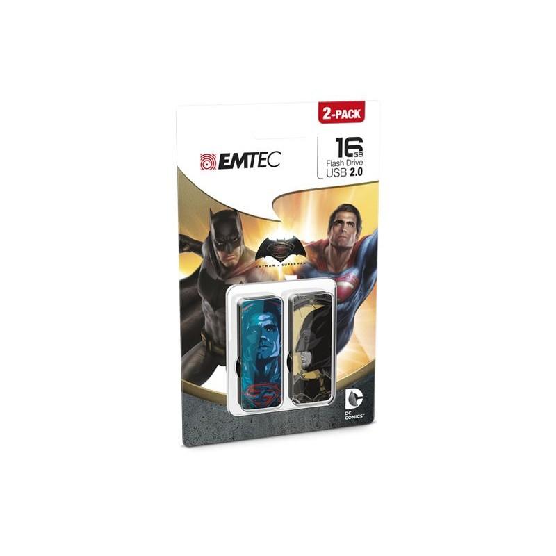 Pen USB 2.0 Emtec 16GB Superman v Batman