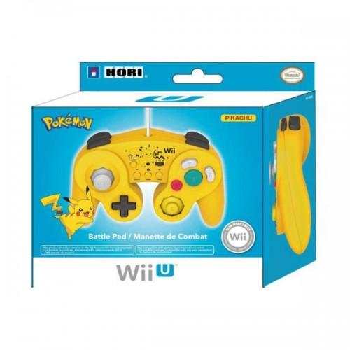 Comando Hori Super Smash Bros. Pikachu Nintendo WiiU & Wii
