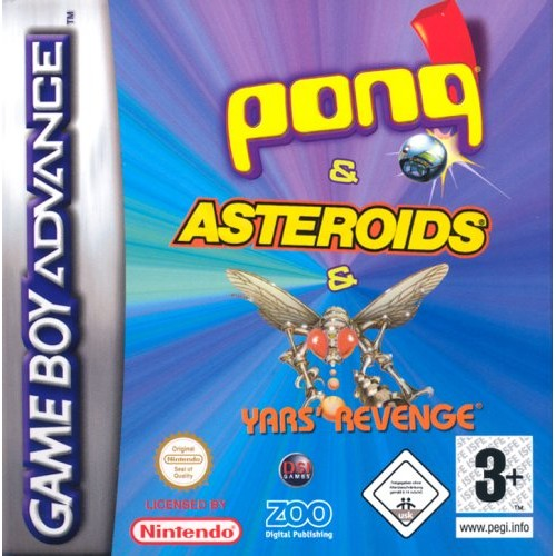 Pong & Yars Revenge & Asteroids (Apenas Cartucho) GBA