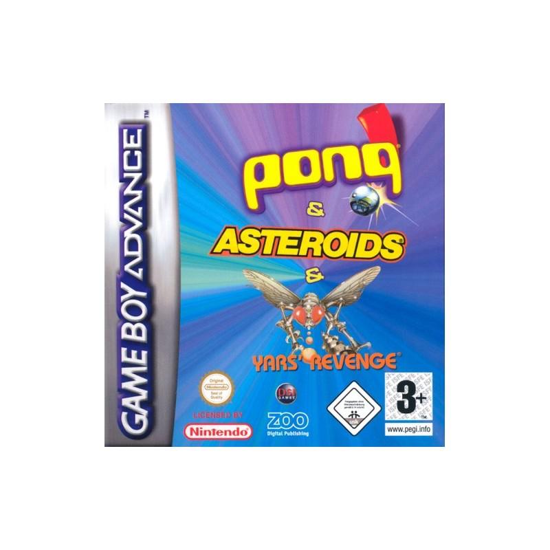 Pong & Yars Revenge & Asteroids (Apenas Cartucho) GBA