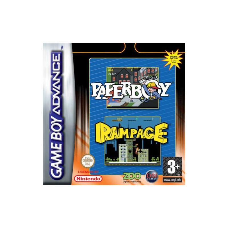Paperboy & Rampage (Apenas Cartucho) GBA