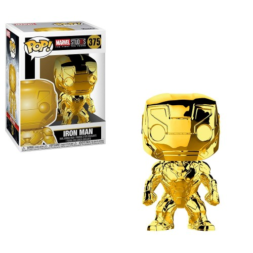 Figura Funko POP Marvel Studios 10 Years Iron Man Gold Chrome 375