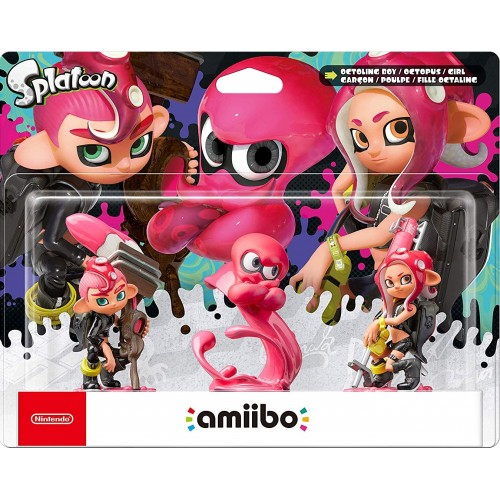 Amiibo Splatoon Octoling Triple Pack (Boy + Octopus + Girl)
